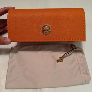 Tory Burch Glasses Case with Glasses Cover NWOT